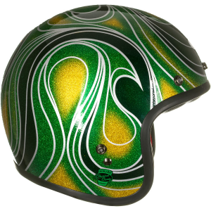 Casco jet BELL Custom 500 Special Edition Chemical Candy Mean in fibra verde
