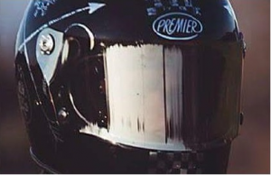 Visiera cromata argento Premier per caschi Trophy