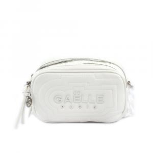 Gaelle Paris Borsa a Tracolla con Logo Bianco da Donna