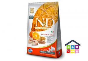 Farmina N&D | ANCESTRAL GRAIN CANINE | Gusto Merluzzo e Arancia - Medium /maxi adult 2,5kg/12/kg