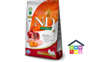 Farmina N&D PUMPKIN CANINE | Gusto Pollo e Melograno  Adult Mini 0,800/2,5kg
