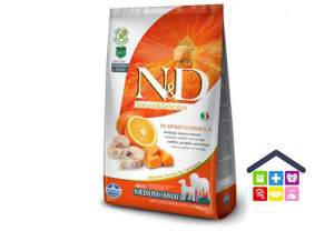 Farmina N&D PUMPKIN CANINE | Gusto Merluzzo e Arancia Adult Medium/Max - 2,5/12 Kg