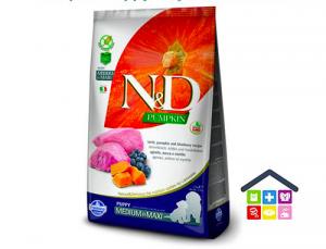 Farmina N&D  PUMPKIN CANINE | PUPPY AGNELLO E MIRTILLO - Taglia Medium/Max 2,5kg/12kg
