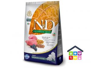 Farmina N&D  ANCESTRAL GRAIN - PUPPY MEDIUM&MAXI - AGNELLO E MIRTILLO 2,5kg/12kg