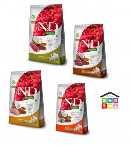 Farmina N&D | Linea QUINOA CANINE - ADULT 2,5 KG aringa, quaglia,cervo,anatra