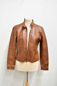 Jacket Woman In Leather And Size.m