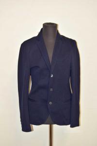 Jacket Man Blue In Wool Falconeri Size 46