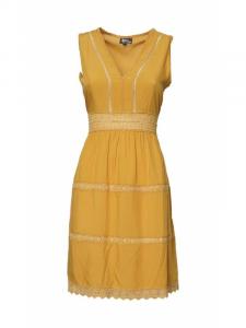 Abito corto giallo ocra. Abbigliamento donna online