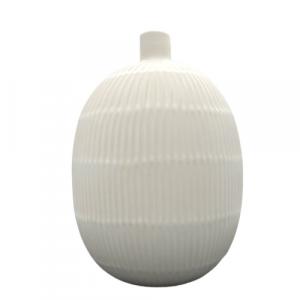 Mascagni vaso ceramica bianco righe h32