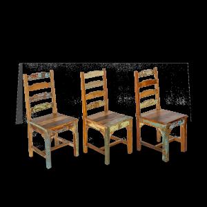 Sedia in legno di teak recuperato indiano