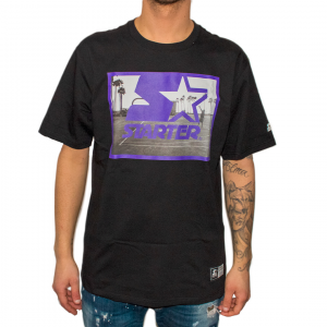 Starter T-Shirt con Stampa Nera da Uomo