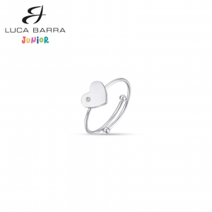 Luca Barra - Anello in acciaio con cuore