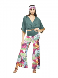 Fancy trousers in viscose jersey. Online clothing