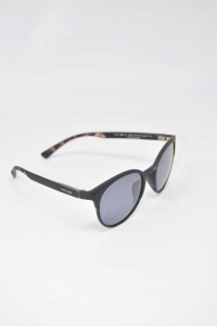 Sunglasses Black Police With Lens Round