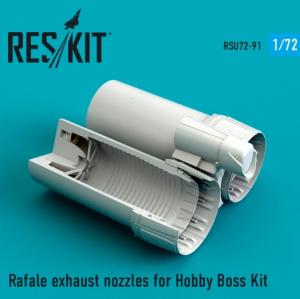 Rafale exhaust nozzles