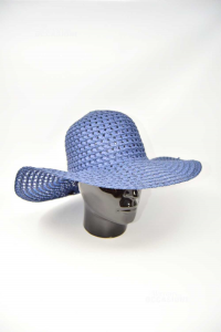 Hat Woman Blue The Corderia Italian Size.unique New