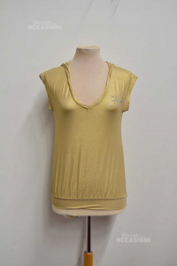 T-shirt Woman Gaudi Golden With Cappuccio Size.44