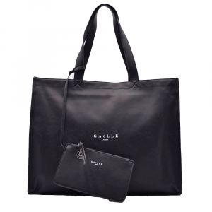 Gaelle Paris Shopper con Mini Pochette Nera Da Donna