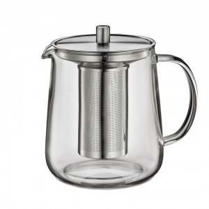 Teiera vetro con filtro inox