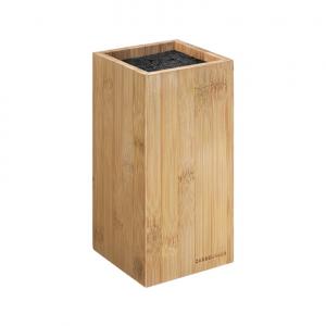 Ceppo coltelli universale legno bamboo quadrato