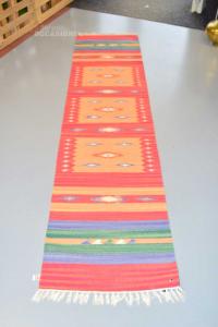 Tappeto Corsia 100% Cotone Multicolor - Arte Tappeti 60 X 240 Cm