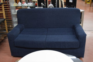 Sofa Blue 2 Seats New In Fabric Removable Cover