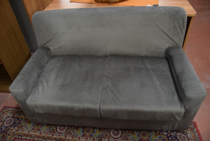 Sofa Gray Alcantara 2 Seats New Alcantara Removable Cover