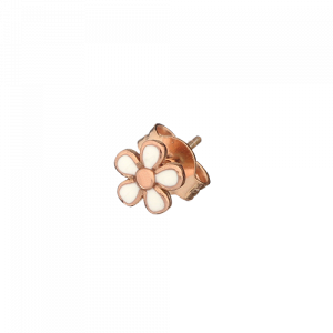 Mono orecchino Fiore smaltato
