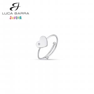 Anello bimba in acciaio con cuore JA100 Luca Barra Junior