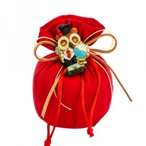 Sacchetto bustone con tirante tessuto rosso Laurea