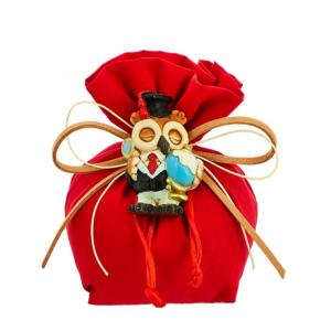 Sacchetto busta con tirante tessuto rosso Laurea