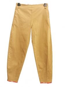 Pantalone donna | colore kaki | elastico in vita | tasca posteriore | cotone stretch | Made in Italy