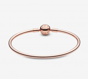 Bracciale Moments – rigido con chiusura a sfera rose