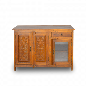 Buffet in legno di teak con anta vetro