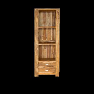 Libreria con cassetti bassi in legno di palissandro indiano