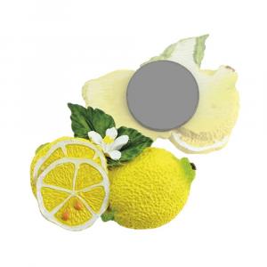 Magnete limone con due foglie resina