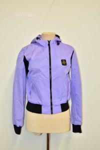 Jacket Woman Half Season Refrigwear Lilac And Black Size L