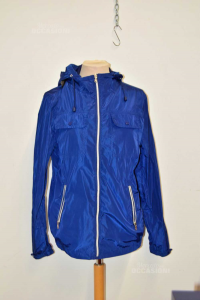 Jacket Man Luca Daltieri Blue Dark Size 48