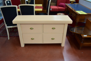 Cabinet Pink Salmon With 4 Drawers
