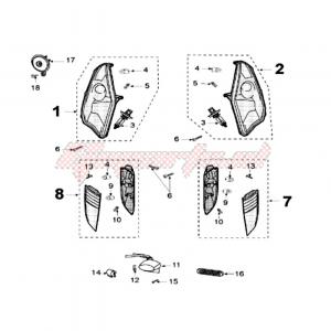 Stop SX Peugeot Satelis 125/250/400/500