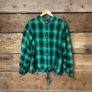 Camicia Department 5 Ramita con Coulisse e Maniche a Sbuffo Verde