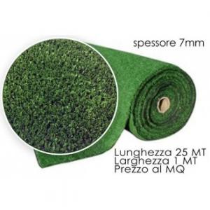 Prato Sintetico Colore Verde Come Vero 1x1 Mt Rotolo di 25 Metri Totali Giardino Arredare Casa Spesso 7 mm
