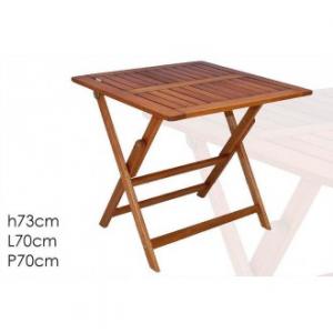 Tavolo In Legno Per Esterno Ed Interno 70x70 cm Colore Legno Pieghevole Facile Da Trasportare Ideale Per Giardino Casa