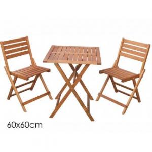 Set Tavolo Con 2 Sedie Colore Legno Sedie Pieghevoli E Tavolo Pieghevole Decorativo Per Esterno Casa 60x60 cm Sedie Giardino