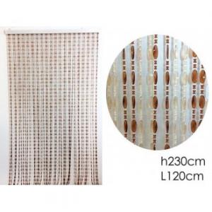 Tenda A Perline Multicolore Colore Bianco e Marrone 120x230 cm Per La Casa Arredare Porte Ecc Casa Arredo