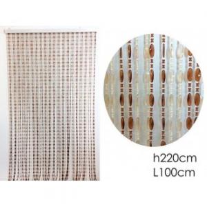 Tenda Con Perline Diversi Colori Bianco e Marrone Multicolore 100x200 cm Per Porte Ecc Casa Arredo