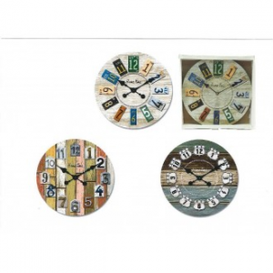 Orologio Da Parete 60 cm Con Disegno In Tela In Vari Temi Assortiti Arredare Casa