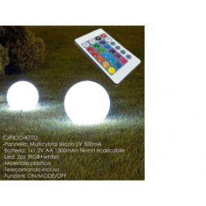 Lampada a Forma di Sfera Alimentata con Luce Solare Con Pannello Integrato 35 Centimetri Da Tavola Decorazioni Con Magnifiche Luci Colorate