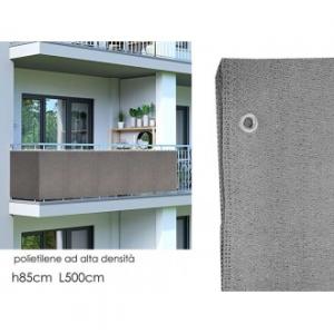 Tenda Copri Balcone 500x85 cm Colore Grigio Chiaro In Poliestere Ad Alta Densità Resistente Pratico Veloce Da Installare Casa Balconi