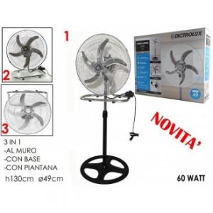 Ventilatore 3 in 1 Al Muro Con Base o Con Piantana 130 cm Per Estate Rinfresca Le Tue Giornate